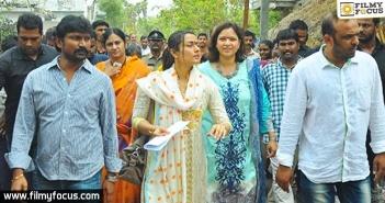 Namrata visits Burripalem, Mahesh Babu adopted village