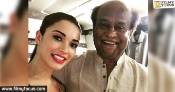 Amy Jackson,Amy Jackson Selfie With Rajinikanth,Amy Jackson New Movie,Robo 2.0