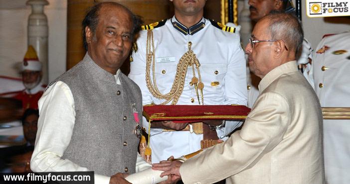 Rajnikanth Receives Padma Vibhushan, Padma Vibhushan Rajnikanth, Rajnikanth,