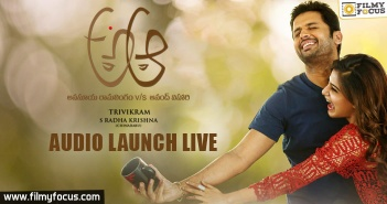 A Aa Movie Audio launch, Mickey J Meyer, A Aa Movie, Nithiin, Samantha, Anupama Parameswaran, Trivikram,