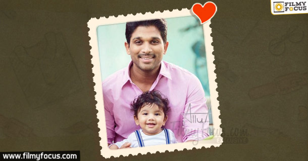 Allu Arjun With His Kid