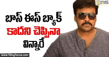 Boss is Back, Mega Fans, Chiranjeevi,