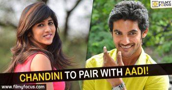 Chandini Chowdary, Aadi, Sriram Aditya