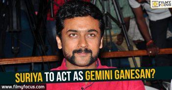 Suriya as Gemini Ganesan, Suriya, Hero Suriya