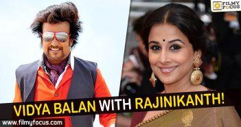 Vidya Balan, Rajinikanth, Actress Vidya Balan, Super Star Rajinikanth,