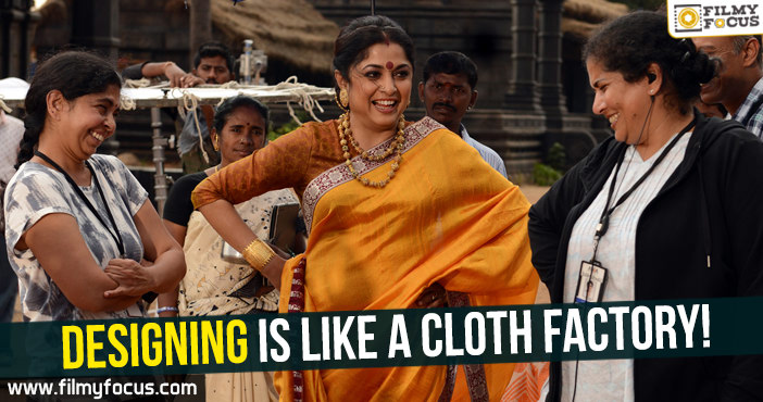 Designing For Bahubali Is Like Running A Cloth Factory Rama Rajamouli Filmy Focus