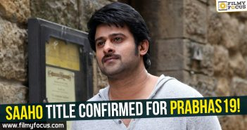 Prabhas, prabhas19, Saaho Movie, Director Sujeeth, Uv creations, baahubali, Baahubali 2,