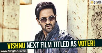 Actress Surabhi, manchu vishnu, Manchu Vishnu Movies, Voter Movie