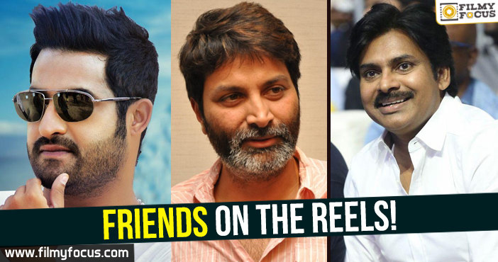 Friends in film industry, NTR, Director Koratala Siva, Pawan kalyan, Director Trivikram Srinivas,