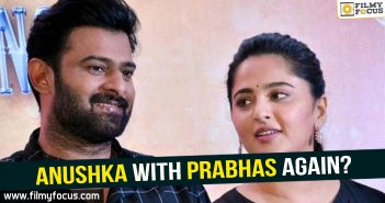Actress Anushka Shetty, Anushka, Anushka With Prabhas, Director Sujeeth, Prabhas, Saaho, Saaho Movie, uv creations