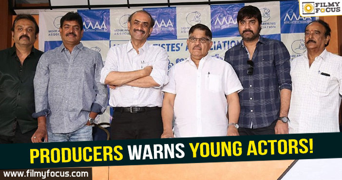 tollywood producers, MAA Association, young heroes, tollywood