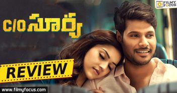 C/o Surya Movie Review, C/o Surya Review, Sundeep Kishan, Mehreen Pirzada, C/o Surya Telugu Review,