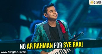 AR Rahman, Sye Raa, Sye Raa Narasimha, Chiranjeevi, Ram Charan