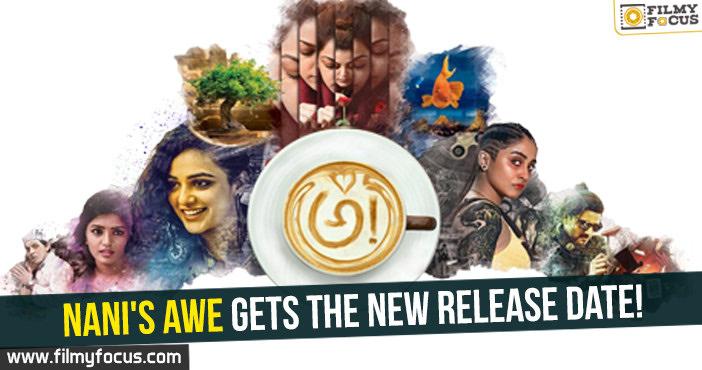 Nani, AWE Movie, Kajal Aggarwal, Nithya Menen, Regina Cassandra, Eesha Rebba, Avasarala Srinivas, Murali Sharma, Priyadarshi, Ravi Teja