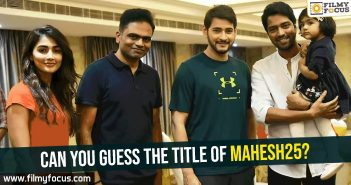 #SSMB, Dil Raju, Mahesh Babu, Mahesh25, Pooja Hedge, Rishi Movie, Vamsi paidipally