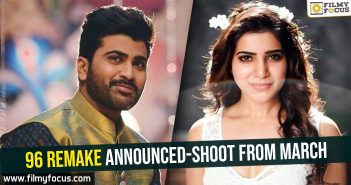Samantha, Sharwanand, Dil Raju, 96 Movie