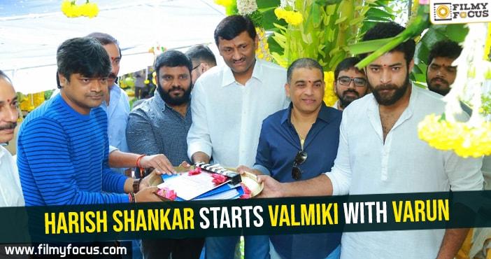 Harish Shankar, Valmiki Movie, Varun Tej,