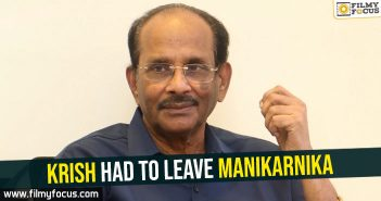 Krish had to leave Manikarnika : Vijayendra Prasad