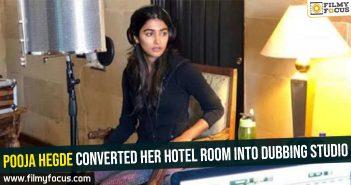 pooja-hegde-converted-her-hotel-room-into-dubbing-studio