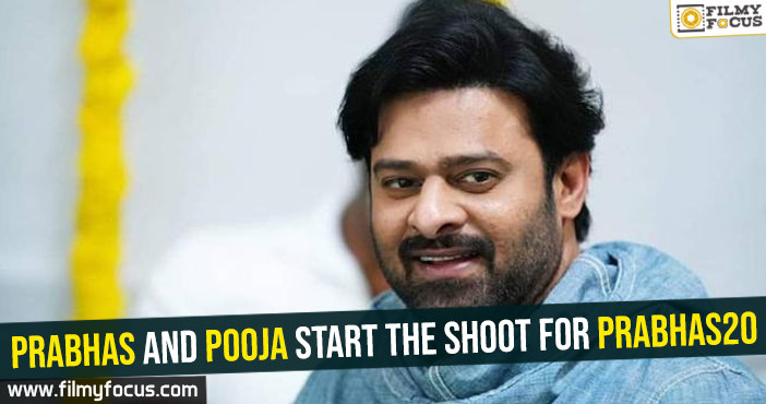 Prabhas, Pooja Hegde, Prabhas20, Saaho Movie,