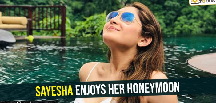 Photo Special- Sayesha enjoys her honeymoon