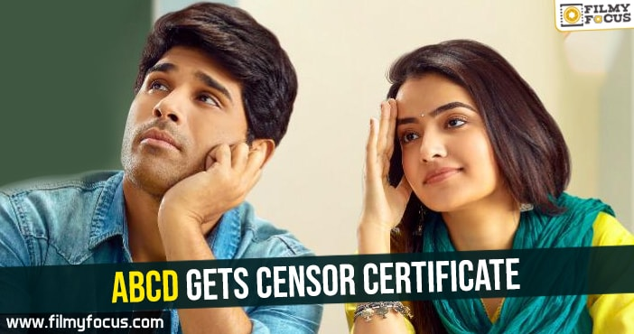 ABCD Movie, Allu Sirish, Sanjeev reddy, Judah Sandhy, Ruksar Dhillon