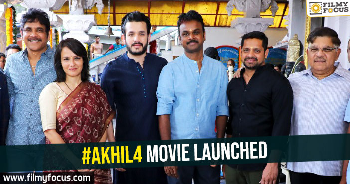 akhil4-movie-launched
