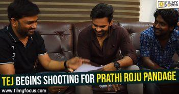 tej-begins-shooting-for-prathi-roju-pandage
