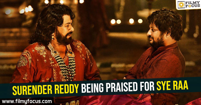 surender-reddy-being-praised-for-sye-raa