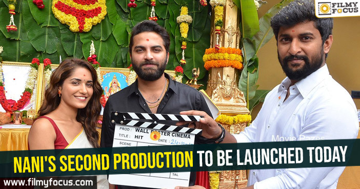Nani's second production to be launched today