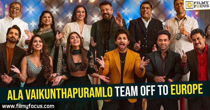 Ala Vaikunthapuramlo team off to Europe