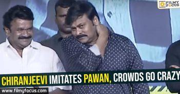 Chiranjeevi imitates Pawan, crowds go crazy