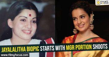 Jayalalitha biopic starts with MGR portion shoots