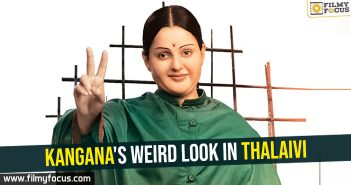 Kangana's weird look in Thalaivi