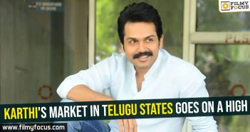 Karthi's market in Telugu states goes on a high