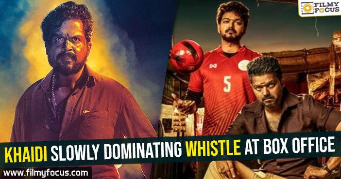 Khaidi slowly dominating Whistle at box office