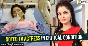 Noted TV actress in critical condition