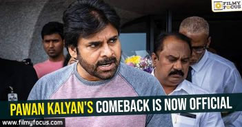 Pawan Kalyan's comeback is now official