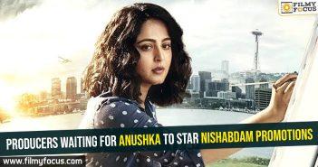 Producers waiting for Anushka to star Nishabdam promotions