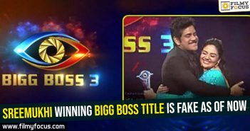 Sreemukhi winning Bigg Boss title is fake as of now