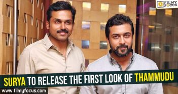 Surya to release the first look of Thammudu