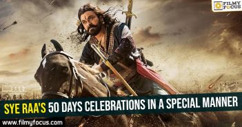 Sye Raa's 50 days celebrations in a special manner