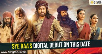 Sye Raa's digital debut on this date