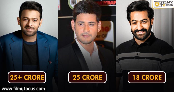 Top Tollywood Heros By Remuneration