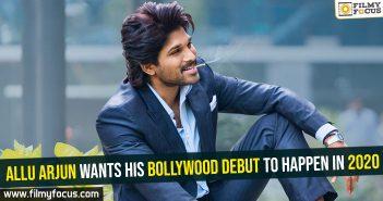 Allu Arjun wants his Bollywood debut to happen in 2020
