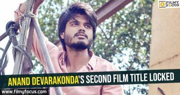 Anand Devarakonda's second film title locked