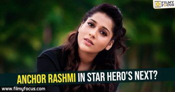 Anchor Rashmi in star hero's next