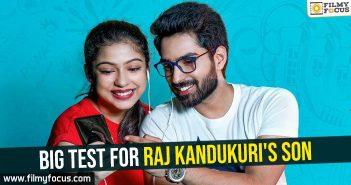 Big Test for Raj Kandukuri's son