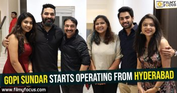 Gopi Sundar starts operating from Hyderabad