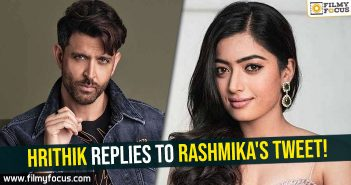 Hrithik replies to Rashmika's tweet